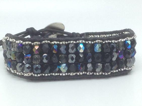 Fitbit Flex bracelet X-Small Black silver and Gunmetal by techGLAM