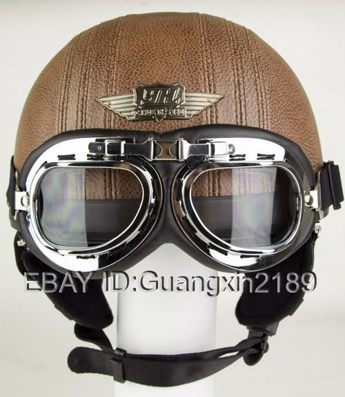 Vintage motorcycles, Open face helmets and Brown leather ...