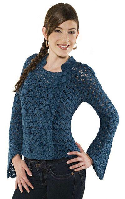 жакет в стиле милитари: Crochet Jacket Pattern, Tejido Crochet Knitting, Crochet Vest, Crochet Coats, Crochet Patterns, Crochet Top, Crochet Clothing, Crochet Cardigans