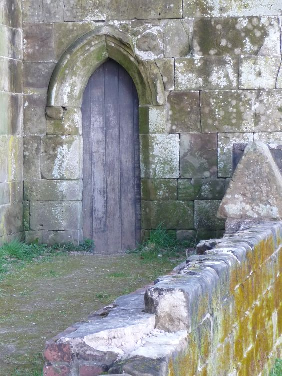 Doorway at Stafford Castle ...march 2014