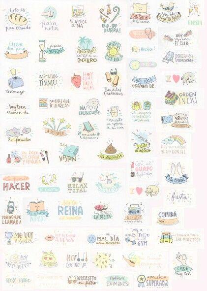 Stickers for your planner pegatinas para tu agenda scrap - Crea tus pegatinas ...