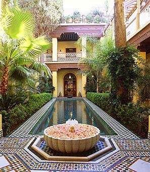 Riad pool, rediscover morocco