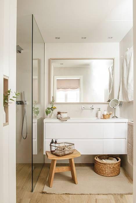 Diseño de baño de estilo nórdico