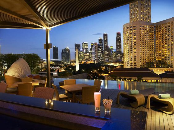 Naumi hotel rooftop bar singapore sexy rooftops around - Rooftop swimming pool in singapore ...