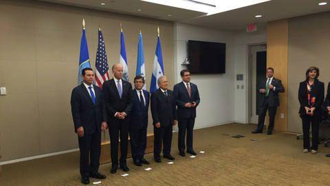 Presidentes de El Salvador Honduras y Guatemala se reúnen con vicepresidente estadounidense Biden - El Diario de Hoy