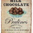 Bügelbilder - Vintage Bügelbild Schokolade Pralinien DIN A4 - ein Designerstück von Doreens-Bastelstube bei DaWanda