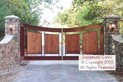 Custom Steel and wrought iron gates | Landscape/plants/design | Pinterest | Metals, Wood and ...