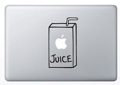 Apple Juice Box Apple Macbook Laptop Air Pro Decal Sticker Skin Vinyl Mac Humor