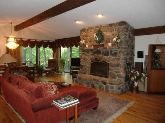 Amaing living room - Quality built rancher on nearly acre lot w/stream, possible in-law quarters on lower level. Home is located in Harrisburg PA and is available for purchase.