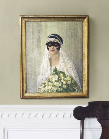DIY - Transform your wall photos into costumed portraits at Halloween (Source : http://www.countryliving.com/crafts/projects/craft-ideas-for-halloween-1009?click=main_sr#slide-1)