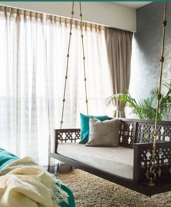 Bright Side Of Photo Is Selected And They Are Bright Due To Heavy Flash And Light We Hope For Your Positive And India Home Decor Indian Room Decor Home Decor #wooden #swing #for #living #room #india