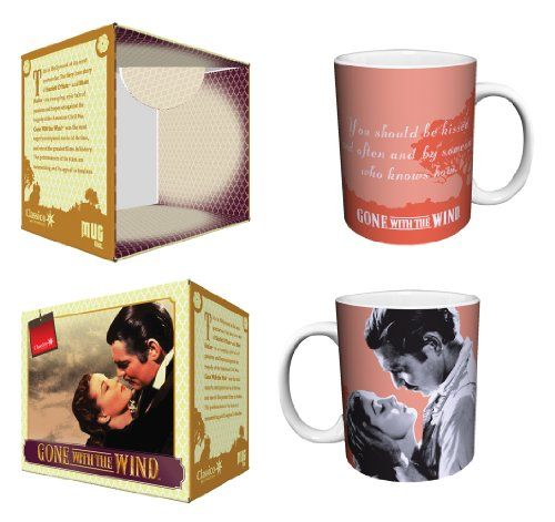 Gone with the Wind Be Kissed Quote Classic Hollywood Movie Film Ceramic Boxed Gift Coffee (Tea, Cocoa) 11 Oz. Mug Culturenik http://www.amazon.com/dp/B00F8H8J3U/ref=cm_sw_r_pi_dp_JvOZub051Y1E1