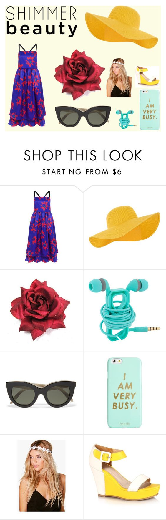 """""""simmer beauty"""" by m3o0odh ❤ liked on Polyvore featuring Edit, Accessorize, Victoria Beckham, ban.do, Boohoo, Summer, Sheinside, summerstyle and summer2016"""