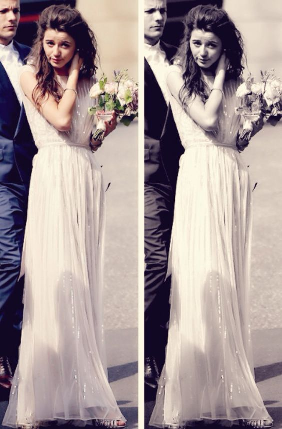 Eleanor Calder as a bridesmaid. :)