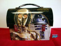 Star Wars- Collectable R2D2 & C3P0 Tin Dome Lunch Box New Vintage Retro Style CLASSIC COLLECTABLE Edition Movie Official [Licensed Merchandise] Workmans Carry All $38.99