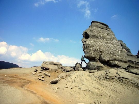 Natural Rock Faces : The sphinx is a natural rock formation with shape of