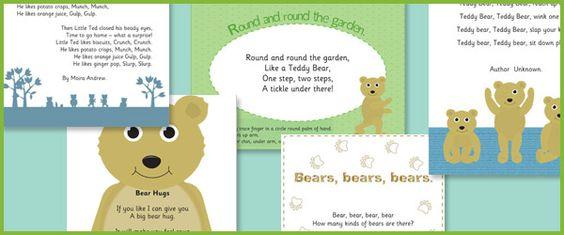 Early Years Bear Poetry
