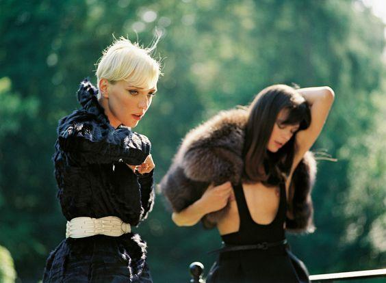 Hannelore Knuts & Griet Troch shot by Serge Leblon for Purple Magazine #6 Fall 2006