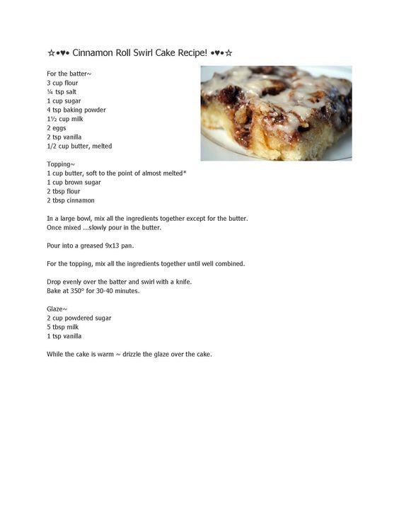 Cinnamon Roll Swirl Cake Recipe Pampered Chef