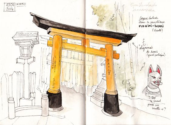 Japan Sketchbook | Kyoto 01 | Juliette Delpech