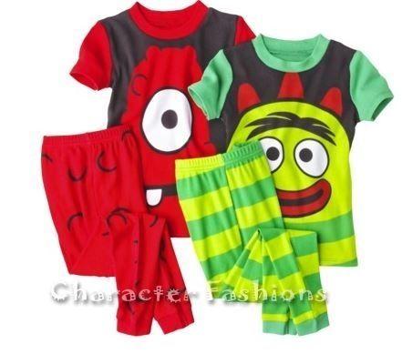 Detalles acerca de YO GABBA GABBA 2T 3T 4T Boys PAJAMAS PJS Shirt ...