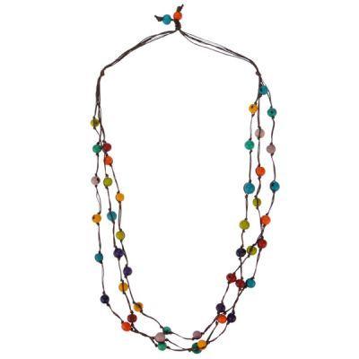 Halskette dreireihig Acai, multicoloured
