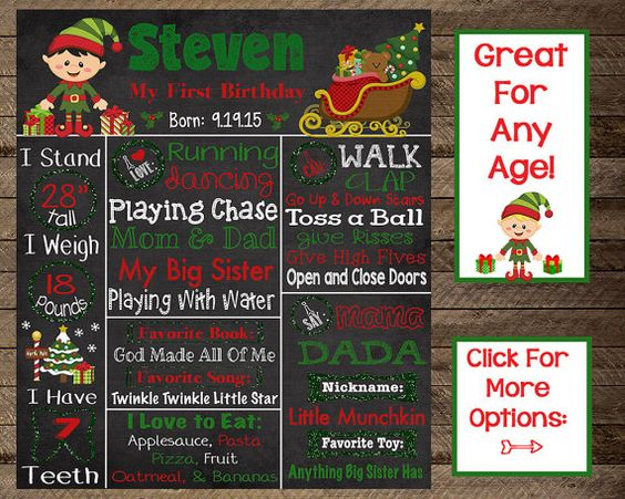 Christmas first birthday chalkboard, elf theme birthday, elf fist birthday, elf chalkboard, boy first birthday, second, winter birthday, 1st, christmas birthday chalkboard poster, sign, digital file, christmas first birthday, christmas invite, christmas invitation, winter birthday, first, second, third, christmas birthday party, christmas party decor, christmas party print, winter 1st birthday, girl first birthday, girl second birthday, first birthday chalkboard,santa, christmas tree, boy…
