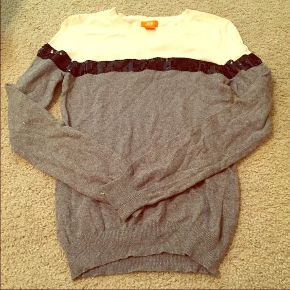 Multi colored sweater with sequences.   Beautiful multi colored sequenced sweater. Worn gently!  Joe Tops Sweatshirts & Hoodies