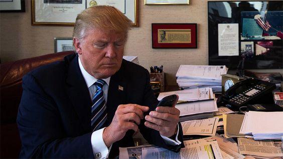 ツイッター中 トランプ大統領