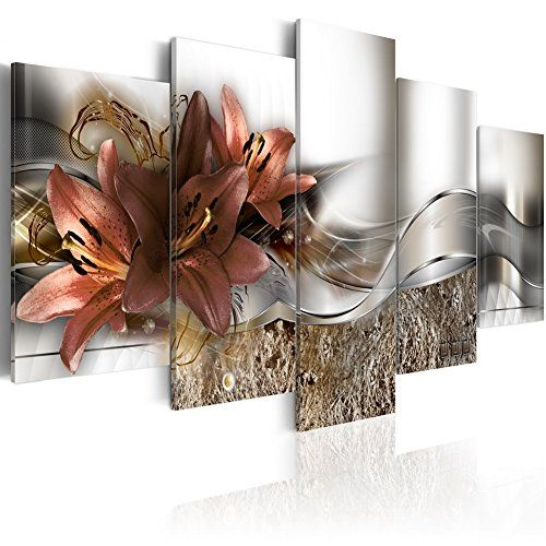 Set of 5pcs Red Flower Canvas Print Wall Art Hanging Painting Picture Home Decor