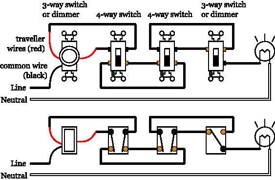 3 And 4 Way Switch Wiring Diagram Pdf Dimmer Switch Three Way Switch Circuit Diagram