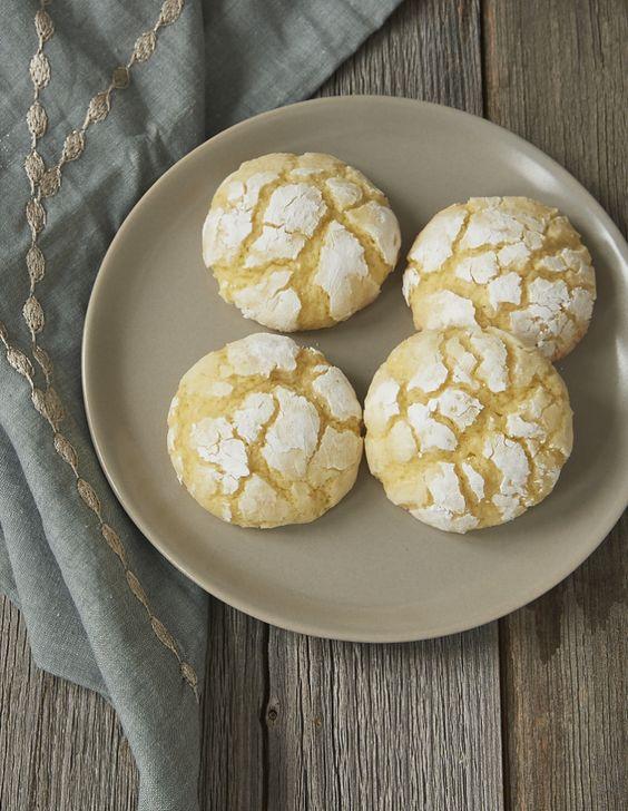 Key limes add a sweet, tart flavor to these Key Lime Crinkle Cookies! - Bake or Break