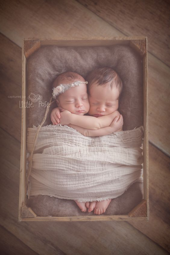 Twins newborn photography. Twins posing idea.