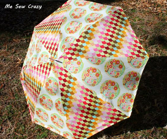 cute tutorial for recovering an umbrella @ Me Sew Crazy