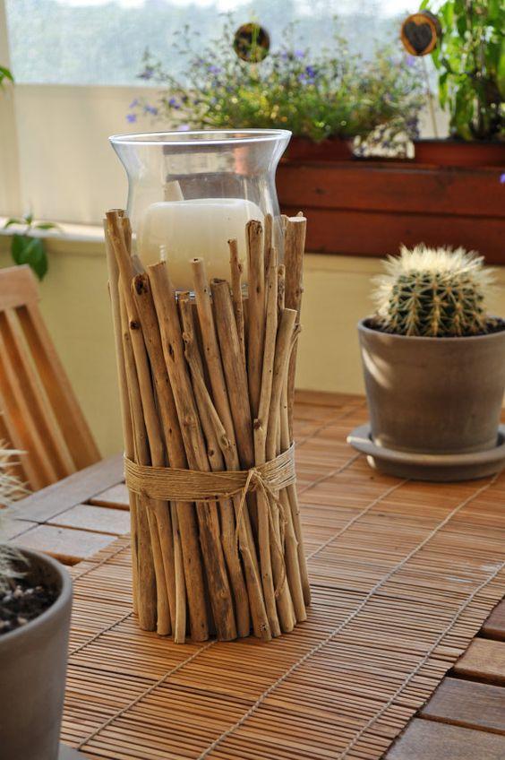 Summer sale driftwood centerpiece driftwood candle for Driftwood centerpiece