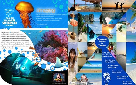 Thailand Travel Brochure by Glen Peter Thinnongbua Strothard, via - travel brochure