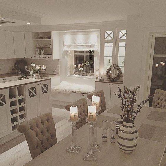 esszimmer + küche | küche | pinterest | beautiful, küchen und ... - Landhaus Esszimmer