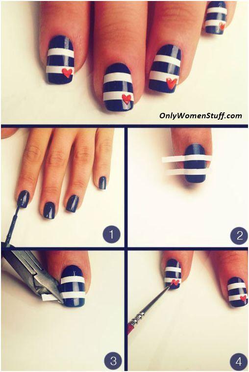 Only Women Stuff A Blog About Beauty Fashion Health Nautical Nails Nails Nail Art Designs Diy
