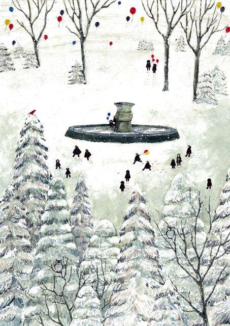 冬の公園で