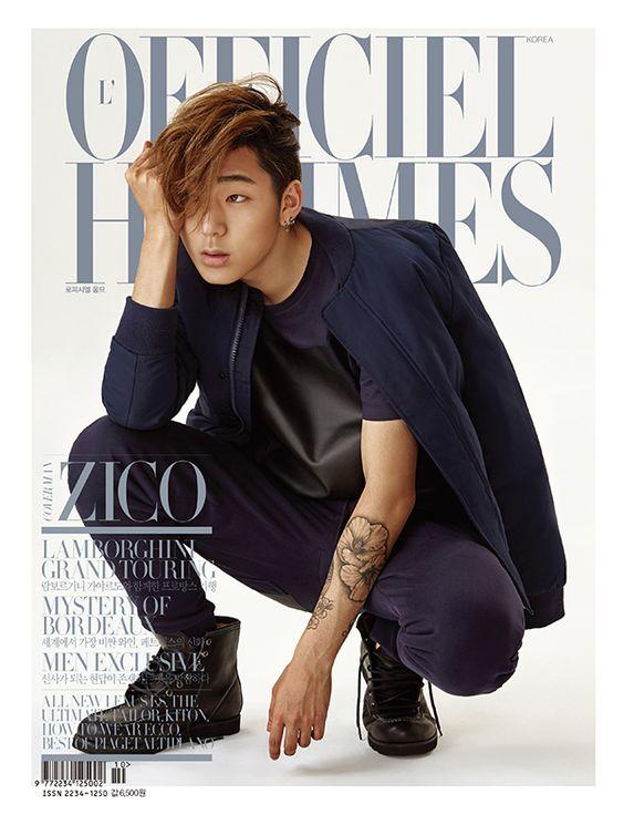 zico chikko model block b sexy officiel hommes photoshoot photographer kong young-kyu fashion magazine