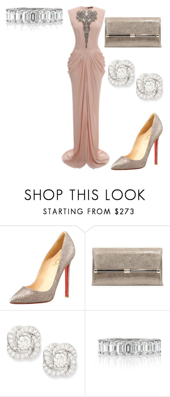 """""""Untitled #21397"""" by edasn12 ❤ liked on Polyvore featuring Alexander McQueen, Christian Louboutin, Diane Von Furstenberg, NM Diamond, Mark Broumand, women's clothing, women's fashion, women, female and woman"""