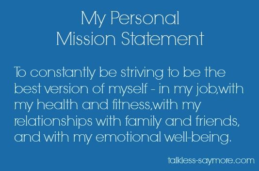 Personal Mission Statement  Google Search  Mission Statements