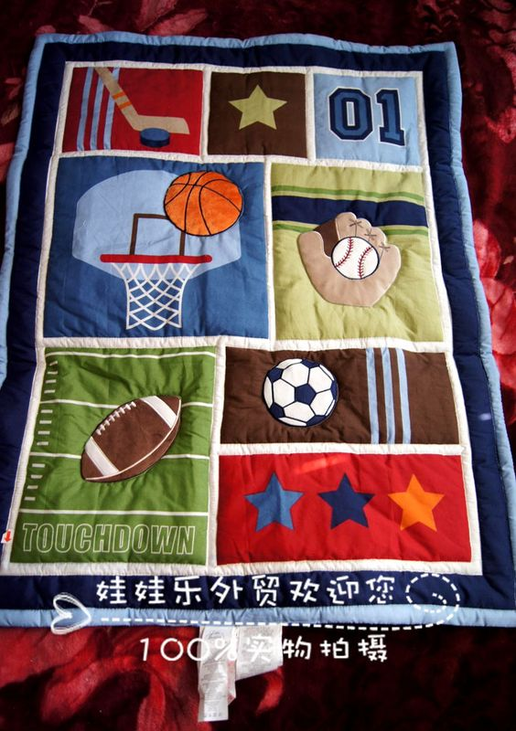 sports quilt patterns for boys | boy sierran cartoon infant boy graphic patterns mdash . small sports ...:
