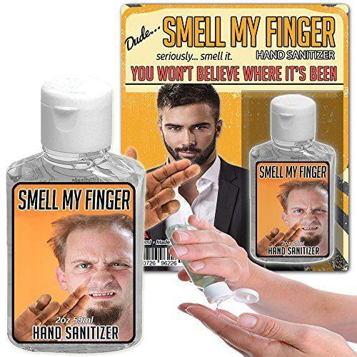 Smell My Finger Hand Sanitizer Gel 2 Oz Bottle Funny Stocking