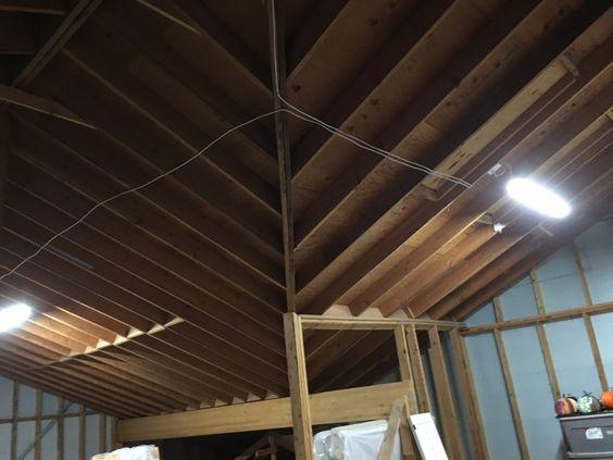 attic installed 2 led shop lights installed new switch. Black Bedroom Furniture Sets. Home Design Ideas