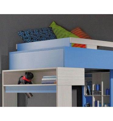 lit combin bureau enfant libellule bleu lit. Black Bedroom Furniture Sets. Home Design Ideas