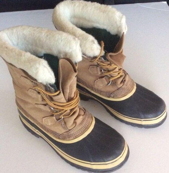 Details about Sorel Caribou Womens Size 9 winter Snow Boots ...