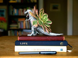 The Magic Onions :: A Waldorf Inspired Blog: Dinosaur Planter For Dad :: A Handmade Father's Day Gift