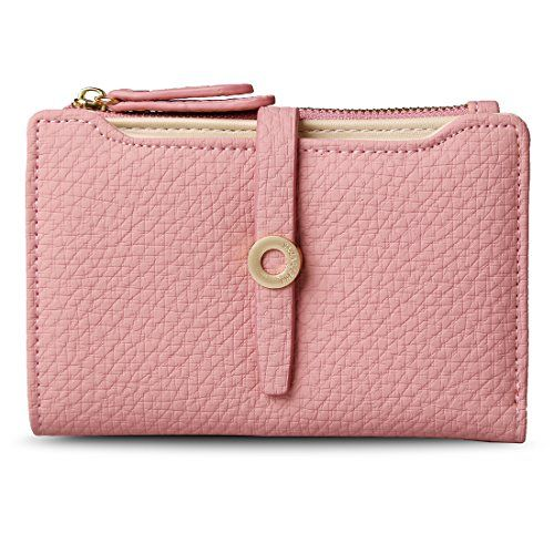 Leather Ladies Credit Card Clutch Wallets with Zipper,lake Wallet