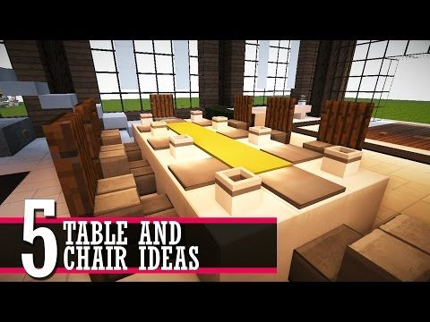 5 Table And Chair Design Ideas Minecraft Furniture Tutorial Youtube Cool House Designs Chair Design Country House Design